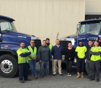 Baltimore Location Team and trucks