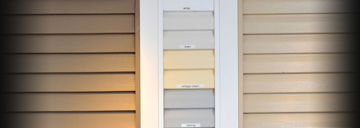 Siding building materials display at New Castle Building Products