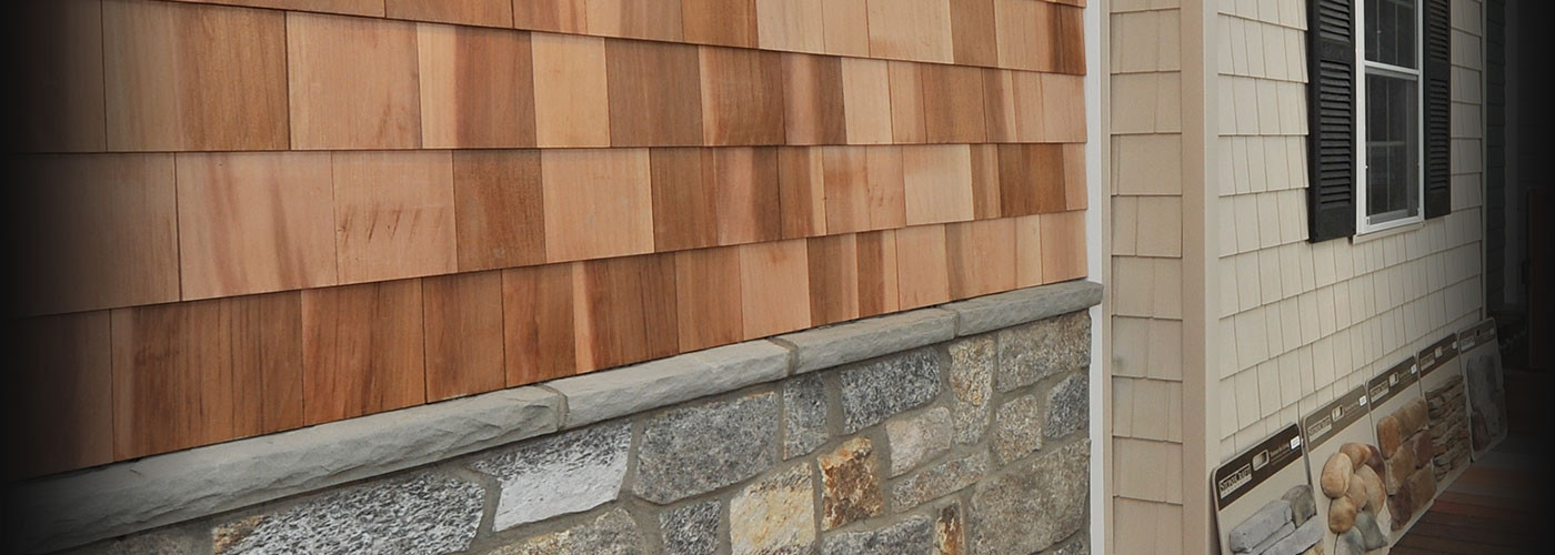 Cedar shingles available from New Castle Building Products